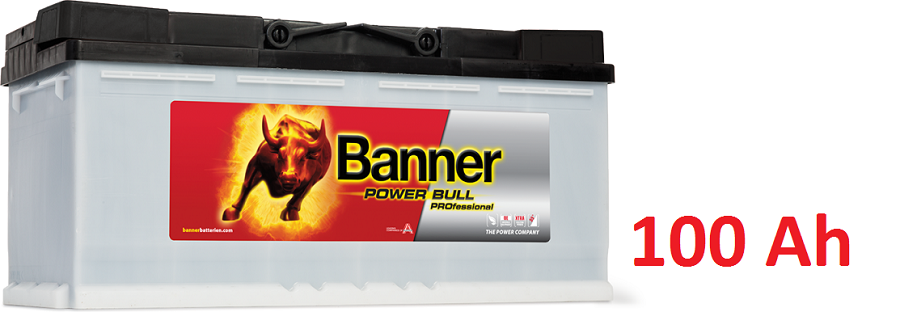 Autobaterie Banner Power Bull PROfessional P100 40 , 100 Ah , 12 V ( PRO P100 40 ) , technologie Ca/Ca