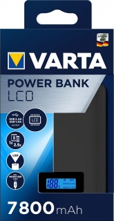 LCD Power banka 7800 mAh , 57970 , VARTA