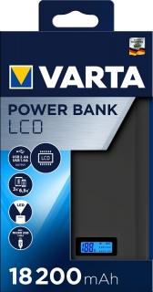 LCD Power banka 18200 mAh , 57972 , VARTA