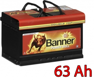 Autobaterie Banner Power Bull PROfessional P63 40, 63Ah, 12V ( P6340), technologie Ca/Ca