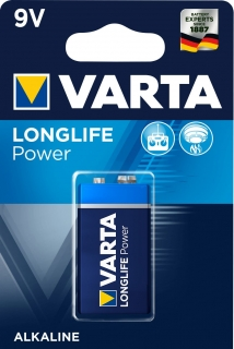 Baterie 9V LONGLIFE POWER 1 ks, typ E-Block 9 V , 4922 , VARTA