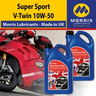 Morris SUPER SPORT V-TWIN 10W-50 - motorcycle 4-Stroke Oil racing, 2x4l