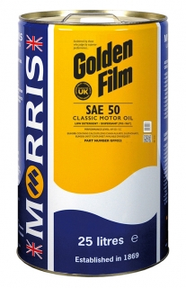 Morris Golden Film SAE 50 Classic Motor Oil , 25l